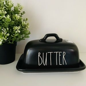 New 🖤 Rae DunnBlack Butter Dish HTF Halloween HTF